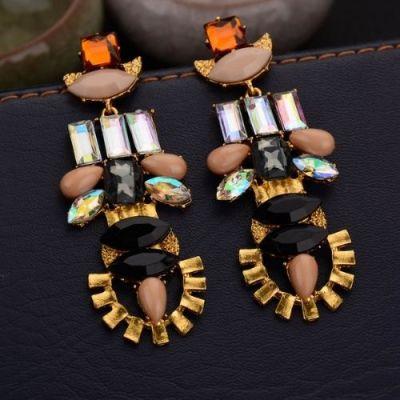 Crystal Geometric Earrings