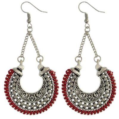 Silver Oxidised Hanging Earrings