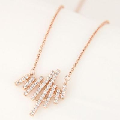 Sweet Diamond Delicate Gold Neck Chain