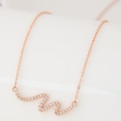 Graceful Gold Zircon Necklace