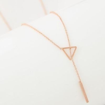 Gold Triangular Link Necklace