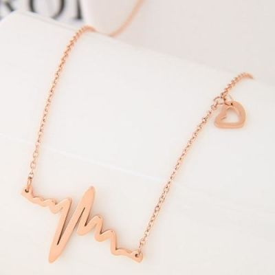Titanium Steel Rose Gold Necklace