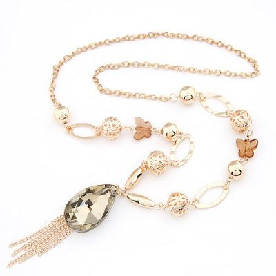 Elegant Water Droplets tassels Long Chain
