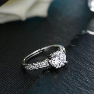 Silver Imitation Zircon Ring