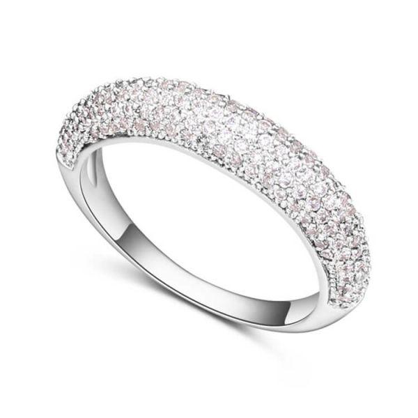 Micro Diamonds Silver Wedding Ring
