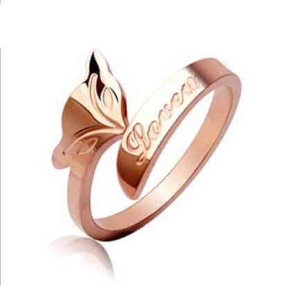 Silver Rose Gold  Plated Ring
