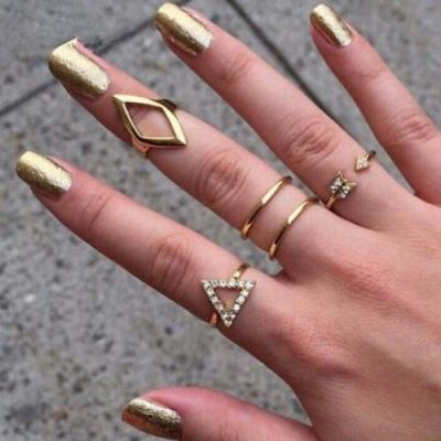 Combination Stack Metal Ring