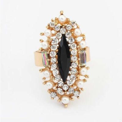 Exquisite Pearl Diamond Opening Ring