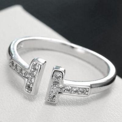 T-shaped Diamond Ring
