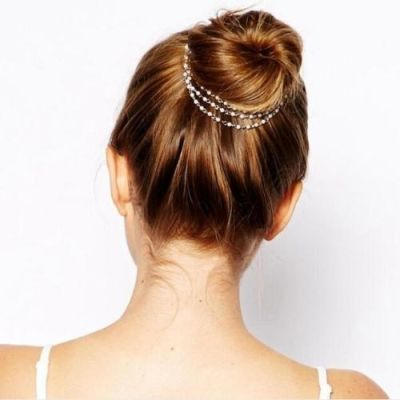 Multi - Layer Pearl Tassel Hair Chain
