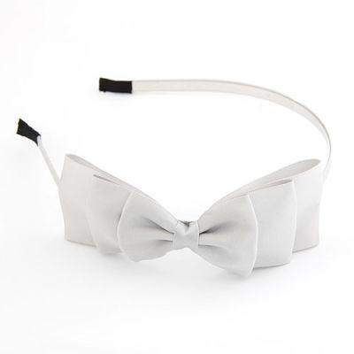 Light grey beautifully  Satin Bow Hairband