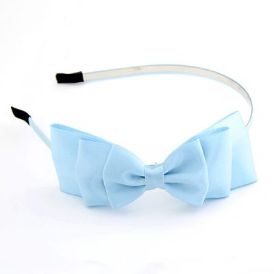 Sky Blue beautifully  Satin Bow Hairband