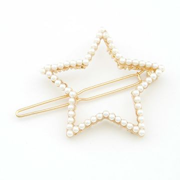 Star Shape pearl studded Hair Pin