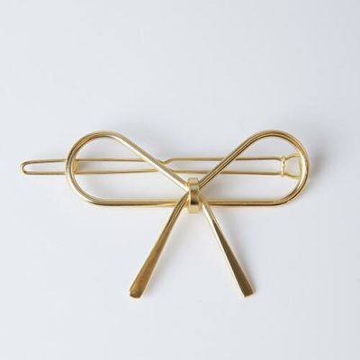 Hollow Gold Metal Bow Hairpin