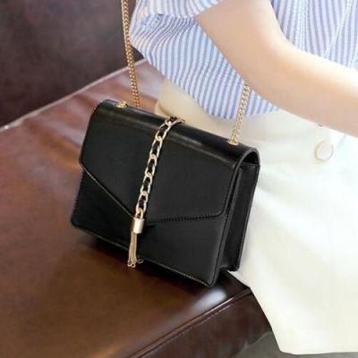 Black Fringed Sling Bag