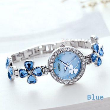 Shforn Blue Quartz Waterproof  Bracelet Analog Watch