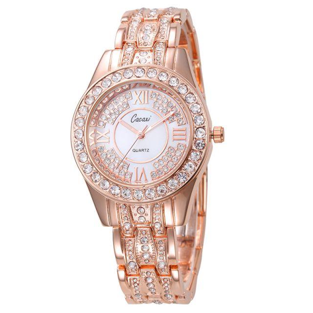 Trendy Full Diamond Rose Gold Ladies Watch