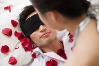 man blindfold