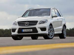 Mercedes ML on asphalt