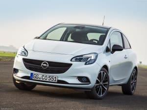 Opel Corsa on asphalt