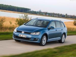 Volkswagen Golf Variant on countryside