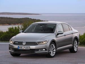 Volkswagen Passat on seashore