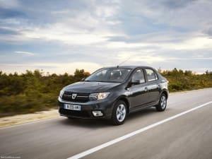 Dacia Logan on road