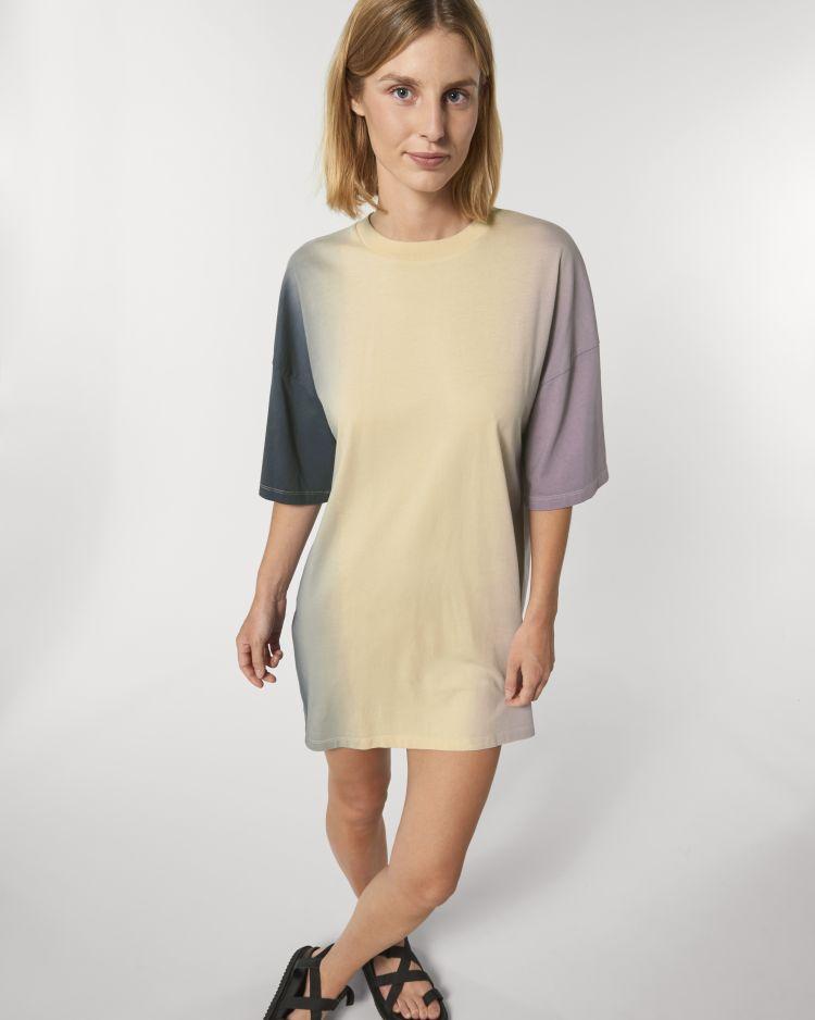 STELLA TWISTER STDW160 Women's Oversized Dip Dye T-Shirt dress Stanley/Stella