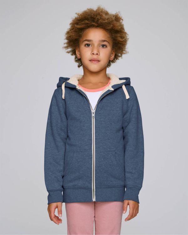 Mini Voyages Sherpa - Le sweat-shirt zippé capuche enfant doublé en sherpa