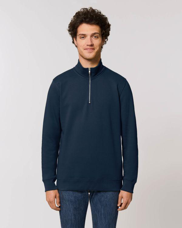 Stanley Trucker - Le sweat-shirt col zippé homme