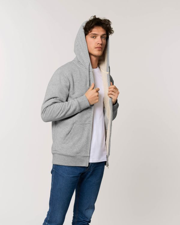 Warmer Sherpa - Le sweat-shirt zippé capuche unisexe doublé en sherpa