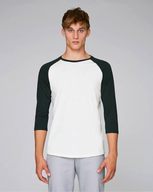Baseball - Le T-shirt manches 3/4 contrastées unisexe