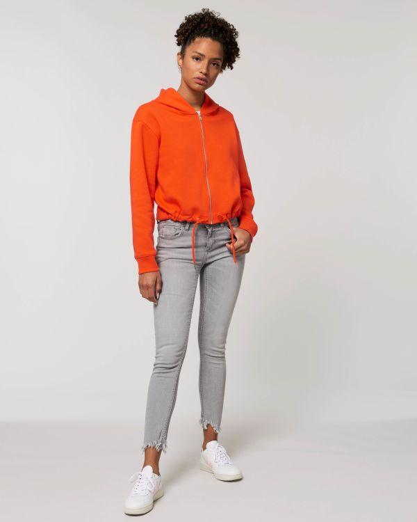 Stella Boxer - Le sweat-shirt zippé capuche court femme