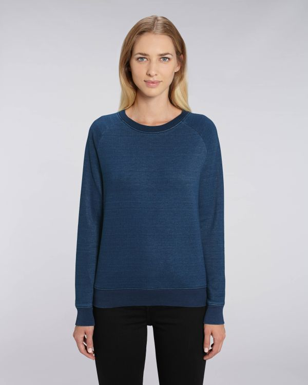 Stella Tripster Denim - Le sweat-shirt col rond denim femme