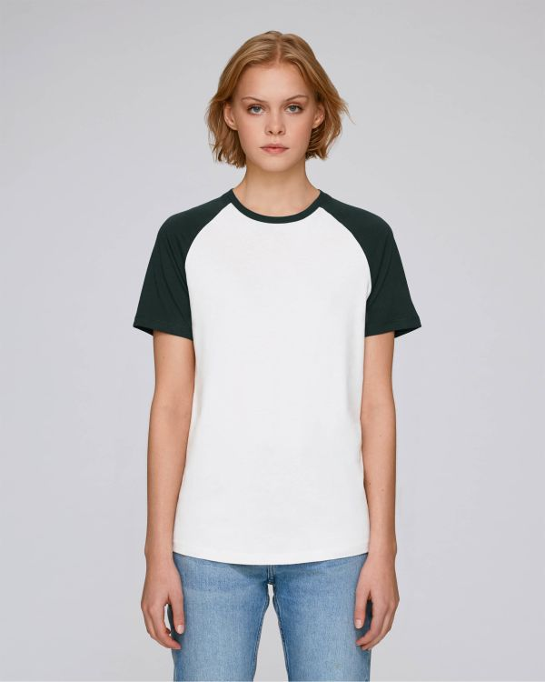 Baseball Short Sleeve - Le T-shirt manches contrastées unisexe