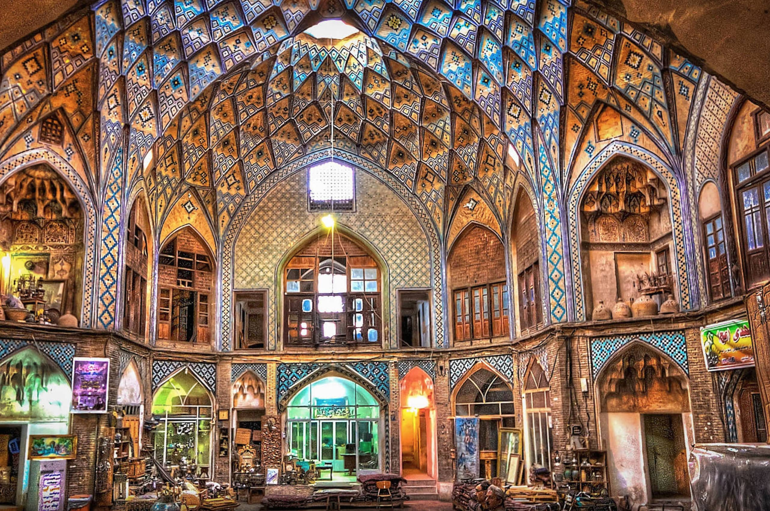 bazaar of kashan iran