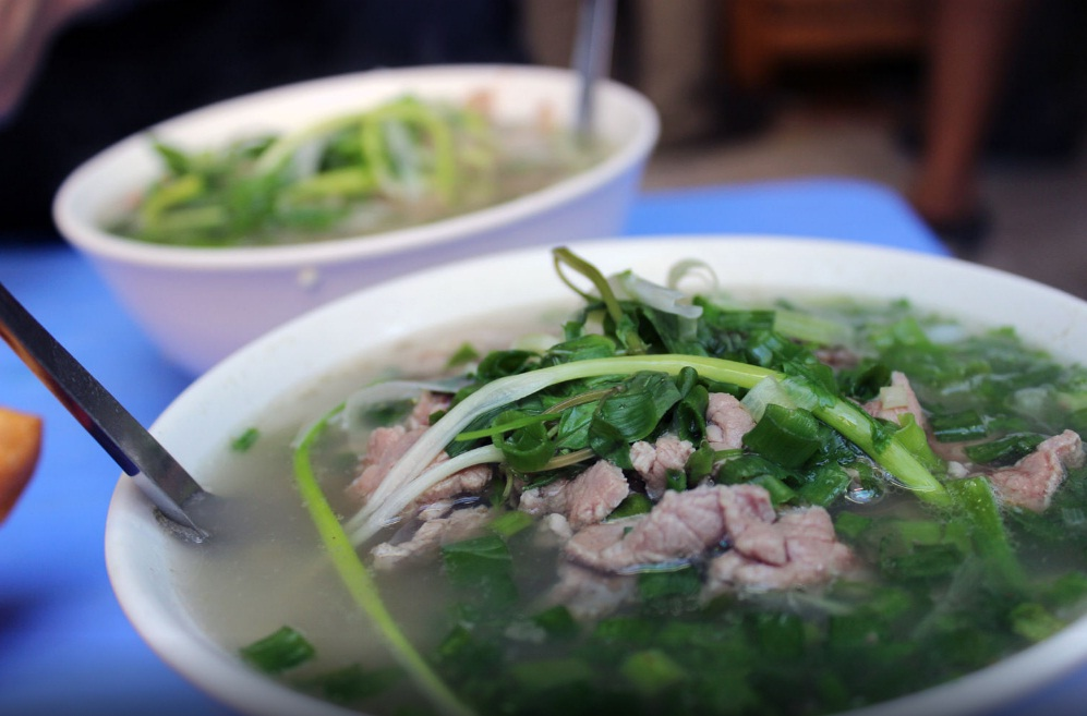 hanoi special noodle soup pho bo