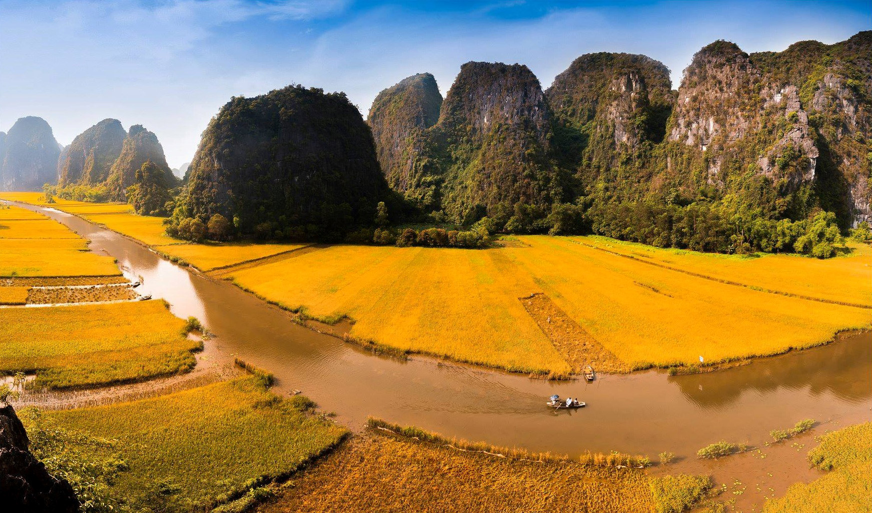 ninh binh rice paddies with photos