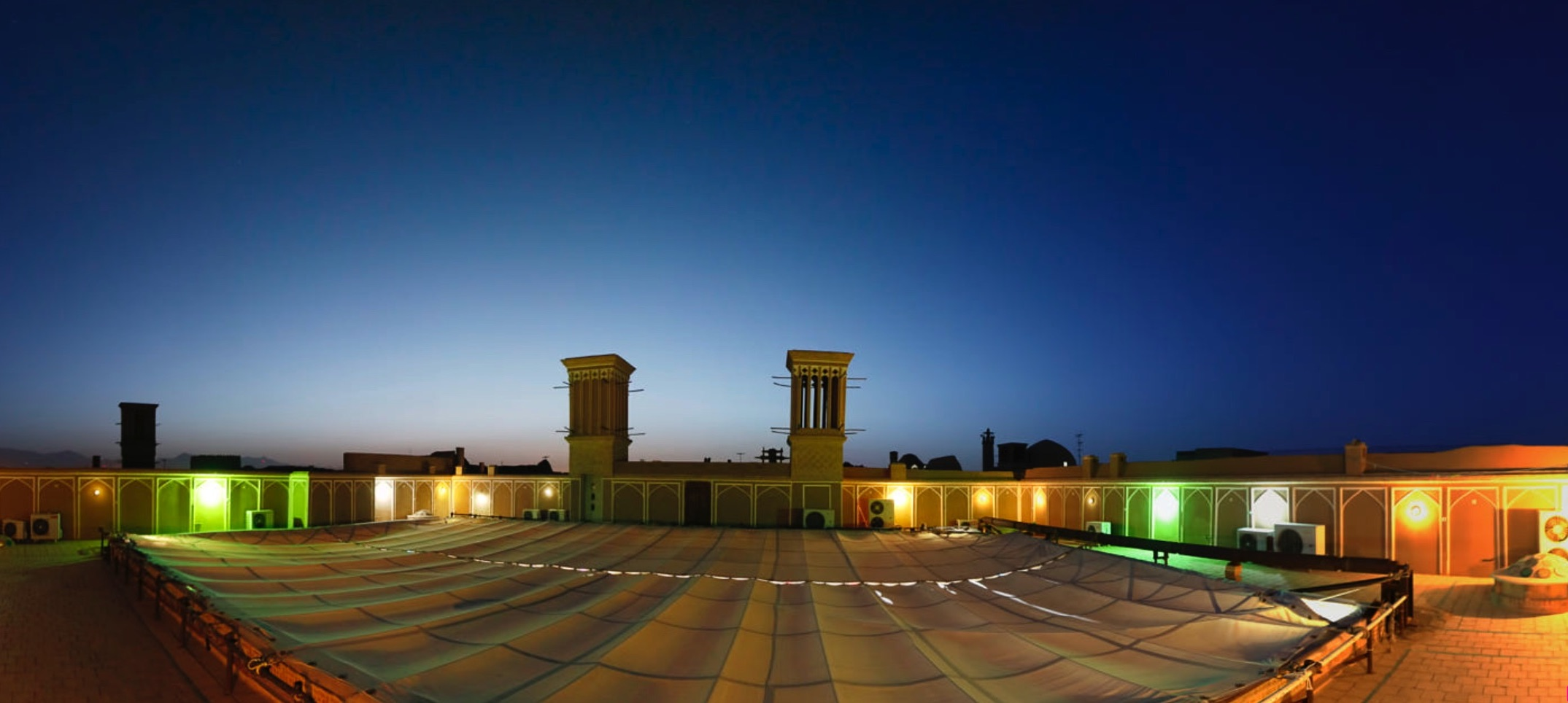 panoramic view of yazd the oldest city of iran