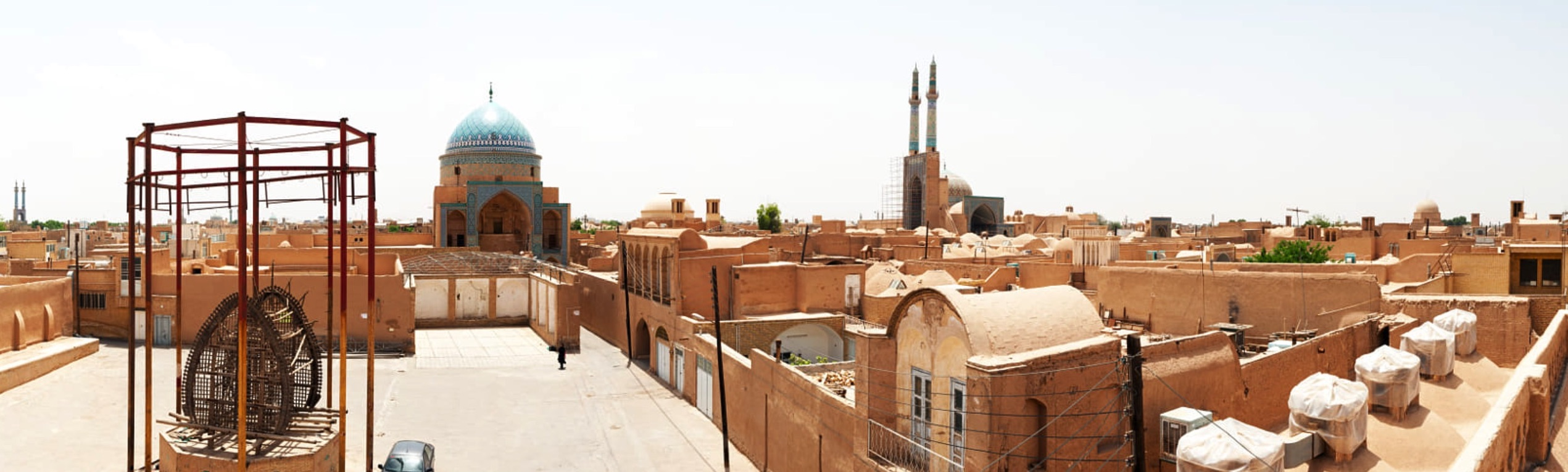 view of yazd city iran