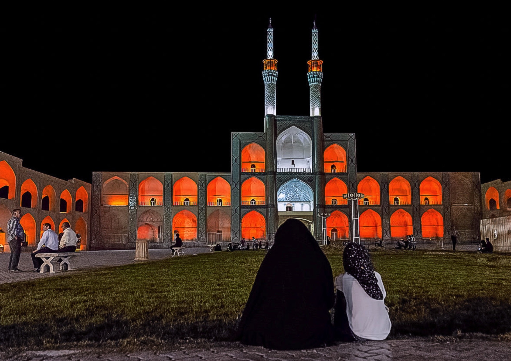amir chakhmaq square yazd photo