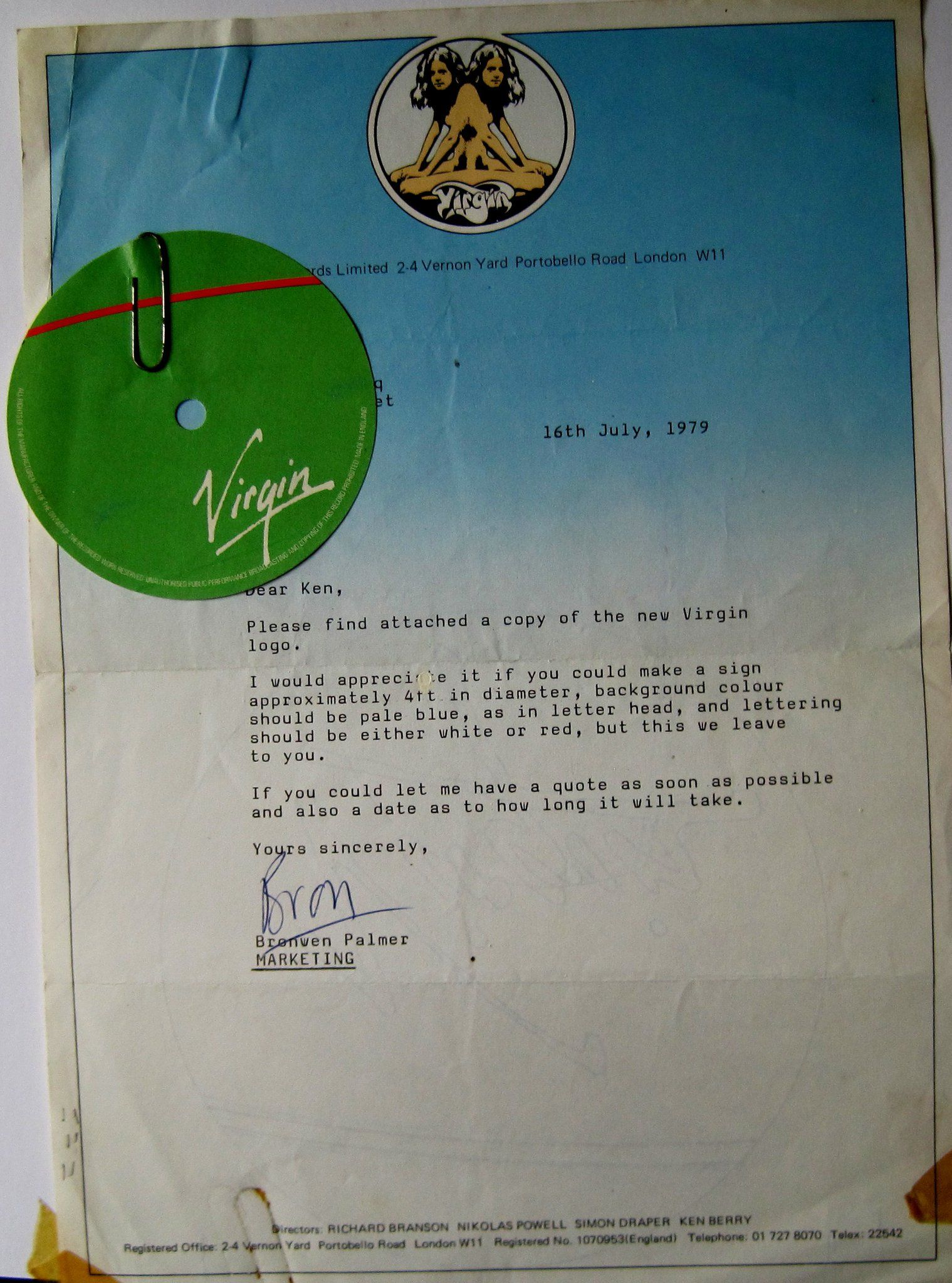 Virgin Logo branding letter