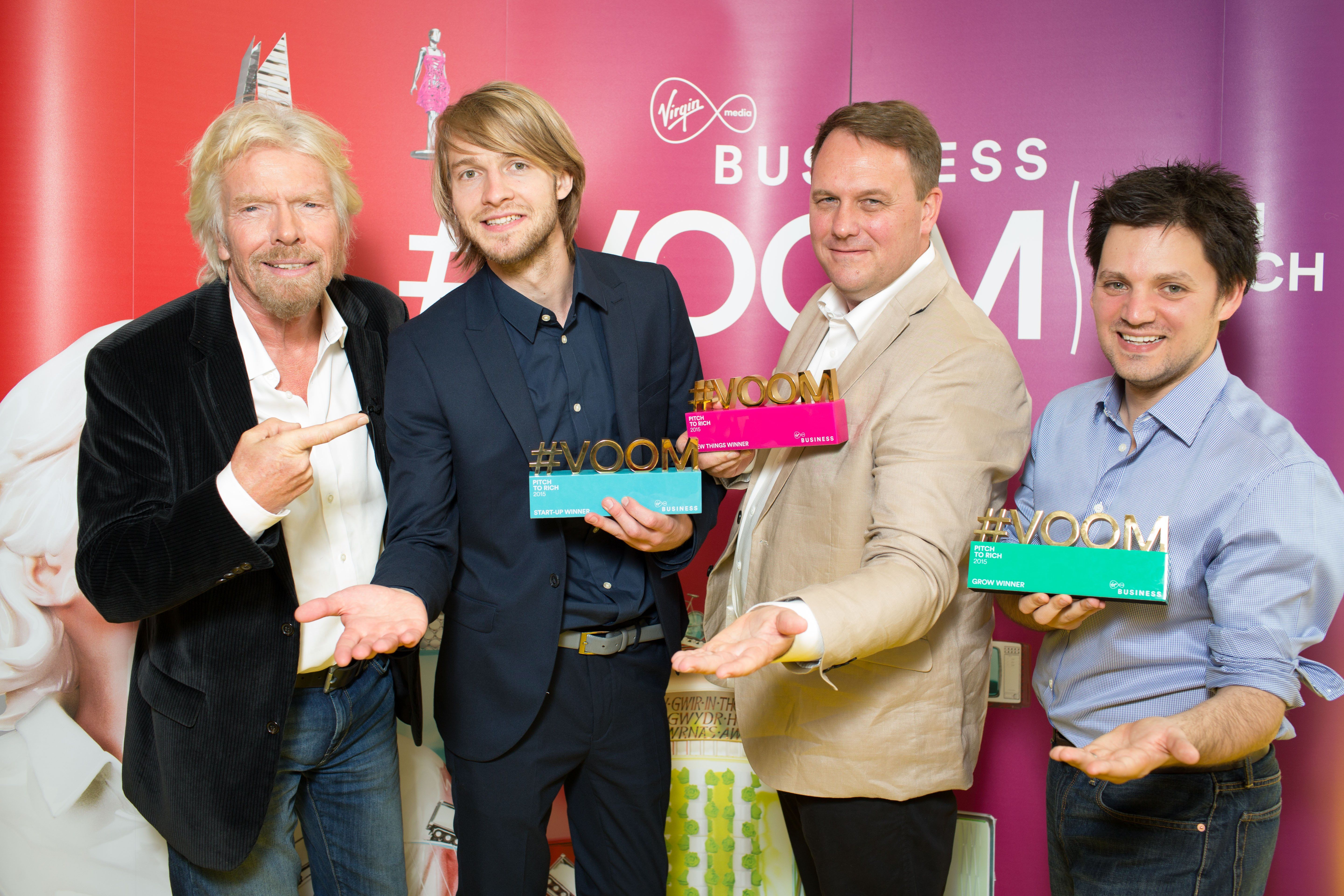 Pitch to rich 2015 winners crowned virgin for Auto entrepreneur paysagiste 2015