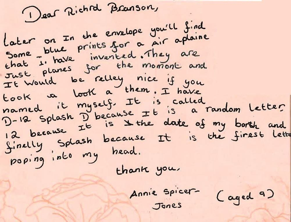 Letter from Annie