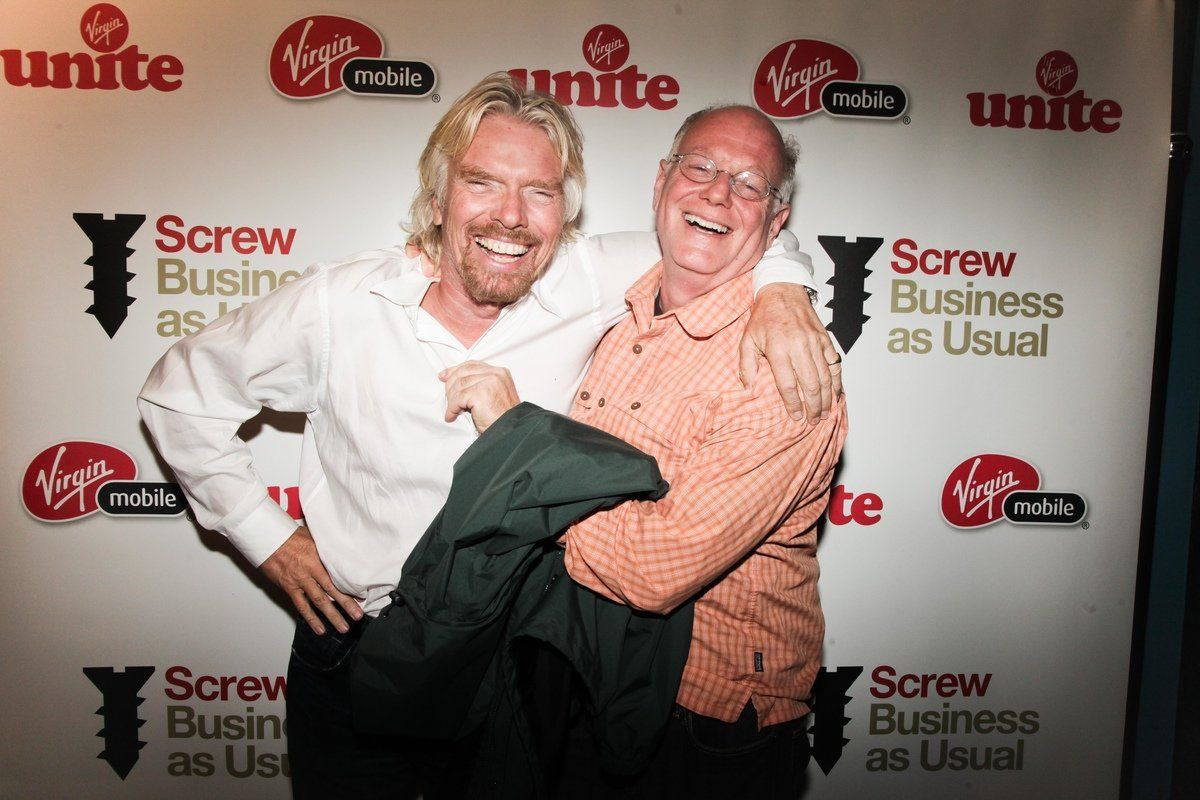Richard Branson at Screw Business As Usual NYC launch