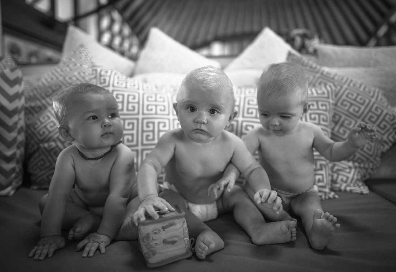 Eva-Deia, Etta and Artie as babies