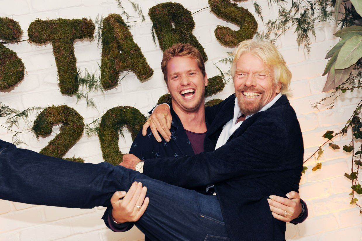 Richard Branson and Sam Branson at Virgin Stars 2015