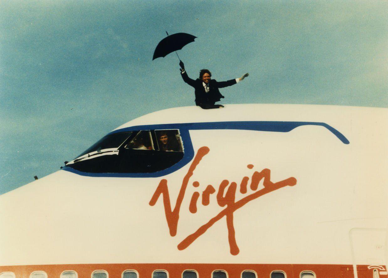 5 questions entrepreneurs should ask themselves virgin richard branson virgin atlantic plane umbrella