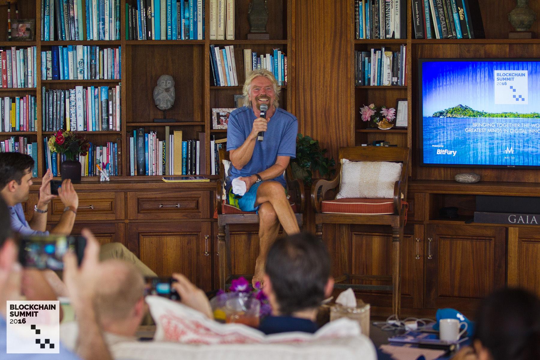 Richard Branson Blockchain Summit 2016