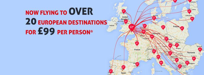 Virgin Balloon Flights European destinations